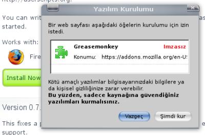 Programları Yüklemek İçin Yapılması Grekenler !! ( RESİMLİ ANLATIM ) - Sayfa 4 Greasemonkey_kurulumu