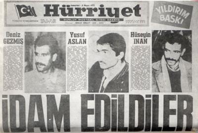 Deniz Gezmiş, Hüseyin İnan, Yusuf Aslan 6 Mayıs 1972
