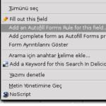 Firefox eklentisi: Autofill forms