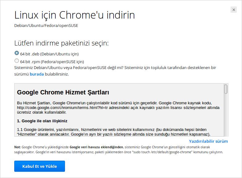 Google Chrome Debian