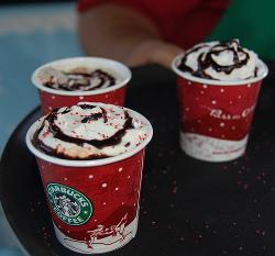 Starbucks holiday drinks, coffee