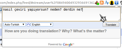 Bubble translate, Google Translate, çeviri