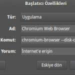 Ubuntu'da Google Chrome disk belleği yeri ve kapasitesi nasıl ayarlanır?