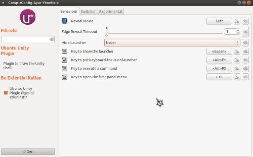Ubuntu 11.10 - Unity Ayarları
