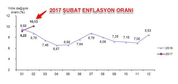 2017 Şubat enflasyonu