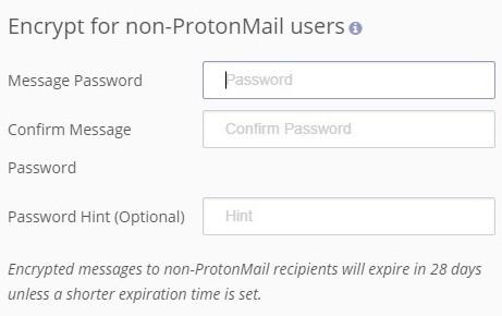 Protonmail şifreleme