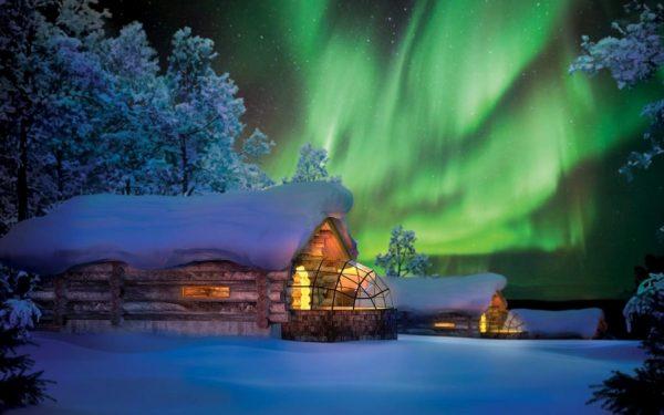 Finlandiya kuzey ışıkları